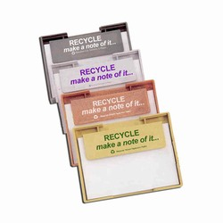rh022 - Recycling Handout Memo Tray, Recycling Incentive, Recycling Promotional Ideas, Recycling Promo Gifts, Recycling Gifts for Tradeshows, recycling ad specialties