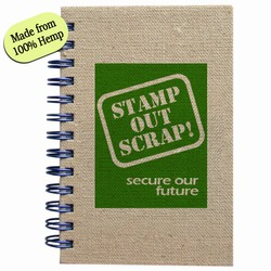 rh057-02 - Recycling HEMP 3.25&quot;x4.75&quot; Notepad, Recycling Incentive, Recycling Promotional Ideas, Recycling Promo Gifts, Recycling Gifts for Tradeshows, recycling ad specialties