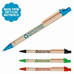 rh059 - Recycled Materials Click Pen, Recycling Promo Gifts, Recycling Gifts for Tradeshows, recycling ad specialties