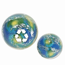 "rh039 - Recycling Handout Super Bounce Earth Ball 2 1/8"", Recycling Incentive, Recycling Promotional Ideas, Recycling Promo Gifts, Recycling Gifts for Tradeshows, recycling ad specialties"
