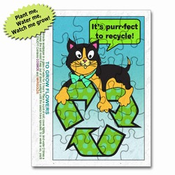 rh058-03 - Recycling 'Plant-A-Seed' Puzzle, Recycling Promo Gifts, Recycling Gifts for Tradeshows, recycling ad specialties