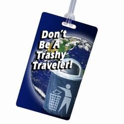 rh224 - Recycling Luggage Tag Handout, Recycling Incentive, Recycling Promotional Ideas, Recycling Promo Gifts, Recycling Gifts for Tradeshows, recycling ad specialties