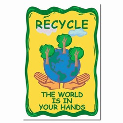 rp154 - Recycling Poster, Recycling placard, recycling sign, recycling memo, recycling post, recycling image, recycling message
