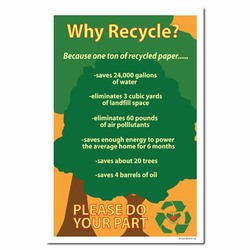 rp158 - Recycling Poster, Recycling placard, recycling sign, recycling memo, recycling post, recycling image, recycling message