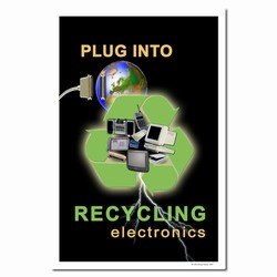 rp184 - Recycling Poster, Recycling placard, recycling sign, recycling memo, recycling post, recycling image, recycling message