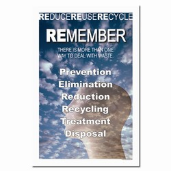 rp185 - Recycling Poster, Recycling placard, recycling sign, recycling memo, recycling post, recycling image, recycling message