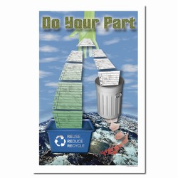 rp189 - Recycling Poster, Recycling placard, recycling sign, recycling memo, recycling post, recycling image, recycling message