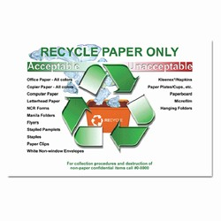 rp190 - Recycling Poster, Recycling placard, recycling sign, recycling memo, recycling post, recycling image, recycling message