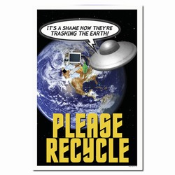 rp233 - Recycling Poster, Recycling placard, recycling sign, recycling memo, recycling post, recycling image, recycling message