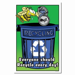 rp249 - Recycling Poster, Recycling placard, recycling sign, recycling memo, recycling post, recycling image, recycling message