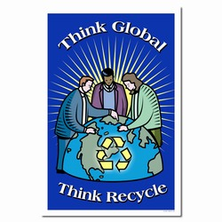 rp258 - Recycling Poster, Recycling placard, recycling sign, recycling memo, recycling post, recycling image, recycling message