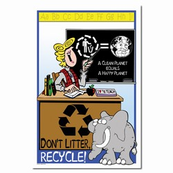 rp262 - Recycling Poster, Recycling placard, recycling sign, recycling memo, recycling post, recycling image, recycling message