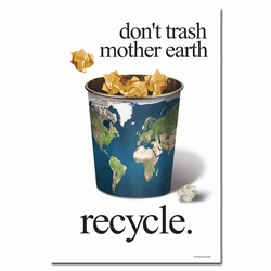 rp275 - Recycling Poster, Recycling placard, recycling sign, recycling memo, recycling post, recycling image, recycling message