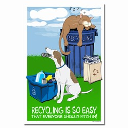 rp305 - Recycling Poster, Recycling placard, recycling sign, recycling memo, recycling post, recycling image, recycling message