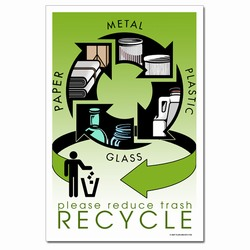rp311 - Recycling Poster, Recycling placard, recycling sign, recycling memo, recycling post, recycling image, recycling message