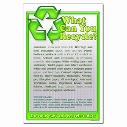 rp323 - Recycling Poster, Recycling placard, recycling sign, recycling memo, recycling post, recycling image, recycling message