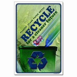 rp324 - Recycling Poster, Recycling placard, recycling sign, recycling memo, recycling post, recycling image, recycling message