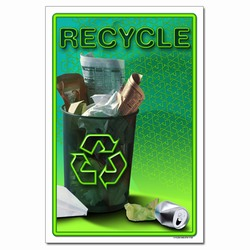 rp325 - Recycling Poster, Recycling placard, recycling sign, recycling memo, recycling post, recycling image, recycling message