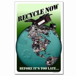 rp326- Recycling Poster, Recycling placard, recycling sign, recycling memo, recycling post, recycling image, recycling message