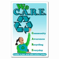rp334 - Recycling Poster, Recycling placard, recycling sign, recycling memo, recycling post, recycling image, recycling message