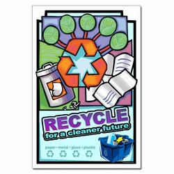 rp335- Recycling Poster, Recycling placard, recycling sign, recycling memo, recycling post, recycling image, recycling message