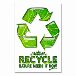 rp407-01 - Recycling Poster, Recycling placard, recycling sign, recycling memo, recycling post, recycling image, recycling message