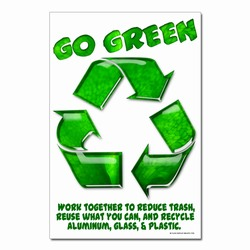 rp407-03 - Recycling Poster, Recycling placard, recycling sign, recycling memo, recycling post, recycling image, recycling message