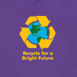 rt260 - Recycling Handout T-shirt, Recycling Incentive, Recycling Promotional Ideas, Recycling Promo Gifts, Recycling Gifts for Tradeshows, recycling ad specialties