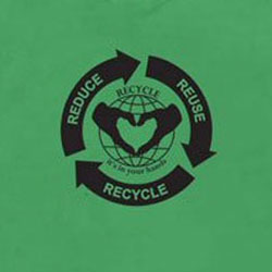 rt262 - Recycling Handout T-shirt, Recycling Incentive, Recycling Promotional Ideas, Recycling Promo Gifts, Recycling Gifts for Tradeshows, recycling ad specialties