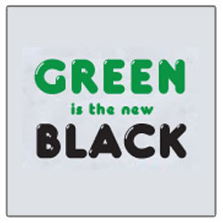 AI-rt265 - Green is the New Black T-shirt, Earth Day Incentive, Earth day Ideas, Earth Day Promo Gifts, Earth Day ad specialties, Earth Day gifts