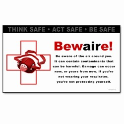 sban002 - Safety Awareness Banner, Safety Notice Poster, Safety Reminder Poster, Safety Placard, Safety Help Poster, Safety Notification Poster