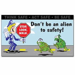 sban004 - Safety Awareness Banner, Safety Notice Poster, Safety Reminder Poster, Safety Placard, Safety Help Poster, Safety Notification Poster