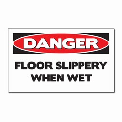 sd007-06 - Vinyl Safety Decal 5&quot;x3&quot; Danger, Safety Sticker, Safety Door Decal, Safety Door Sticker, Safety Label