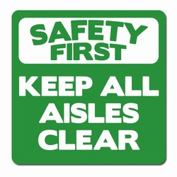 "sd010-01 - Vinyl Safety First Decal 3.5"" square , Safety Sticker, Safety Door Decal, Safety Door Sticker, Safety Label"