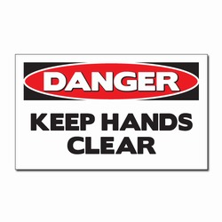 "sd007-01 - Vinyl Safety Decal 5""x3"" Danger, Safety Sticker, Safety Door Decal, Safety Door Sticker, Safety Label"