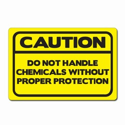 "sd006-04 - Vinyl Safety Decal 6""x4"" Caution, Safety Sticker, Safety Door Decal, Safety Door Sticker, Safety Label"