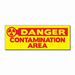 sd009-04 - Vinyl Safety Decal 8&quot; x 3&quot; Danger, Safety Sticker, Safety Door Decal, Safety Door Sticker, Safety Label