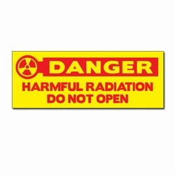"sd009-05- Vinyl Safety Decal 8"" x 3"" Danger, Safety Sticker, Safety Door Decal, Safety Door Sticker, Safety Label"