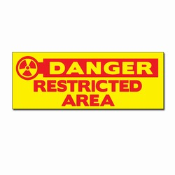 "sd009-06- Vinyl Safety Decal 8"" x 3"" Danger, Safety Sticker, Safety Door Decal, Safety Door Sticker, Safety Label"