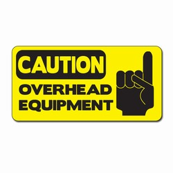 "sd008-02 - Vinyl Safety Decal 4""x2"" Caution, Safety Sticker, Safety Door Decal, Safety Door Sticker, Safety Label"