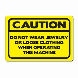 sd006-02 - Vinyl Safety Decal 6&quot;x4&quot; Caution, Safety Sticker, Safety Door Decal, Safety Door Sticker, Safety Label
