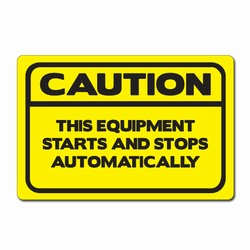 "sd006-05 - Vinyl Safety Decal 6""x4"" Caution, Safety Sticker, Safety Door Decal, Safety Door Sticker, Safety Label"