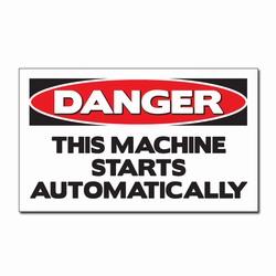 """sd007-03 - Vinyl Safety Decal 5""""x3"""" Danger, Safety Sticker, Safety Door Decal, Safety Door Sticker, Safety Label"""