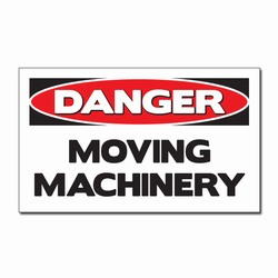 "sd007-09 - Vinyl Safety Decal 5""x3"" Danger, Safety Sticker, Safety Door Decal, Safety Door Sticker, Safety Label"