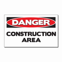 "sd007-11 - Vinyl Safety Decal 5""x3"" Danger, Safety Sticker, Safety Door Decal, Safety Door Sticker, Safety Label"