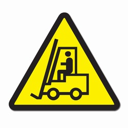 "sd013 - Vinyl Safety Decal 4"" Triangle , Safety Sticker, Safety Door Decal, Safety Door Sticker, Safety Label"