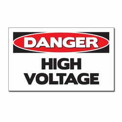 "sd007-08 - Vinyl Safety Decal 5""x3"" Danger, Safety Sticker, Safety Door Decal, Safety Door Sticker, Safety Label"