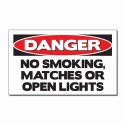 "sd007-12 - Vinyl Safety Decal 5""x3"" Danger, Safety Sticker, Safety Door Decal, Safety Door Sticker, Safety Label"
