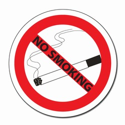 "sd011 - Vinyl Safety Decal 4"" round No Smoking, Safety Sticker, Safety Door Decal, Safety Door Sticker, Safety Label"