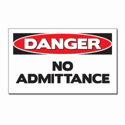 "sd007-02 - Vinyl Safety Decal 5""x3"" Danger, Safety Sticker, Safety Door Decal, Safety Door Sticker, Safety Label"